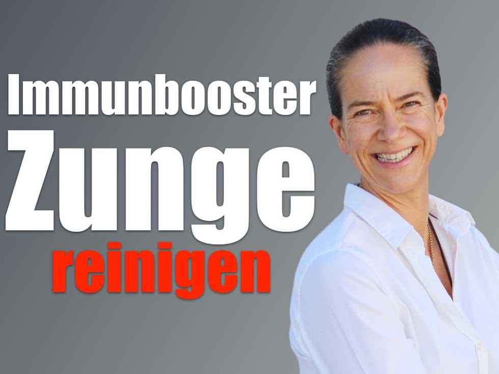 Immunbooster-Zunge-reinigen